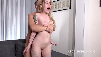 Russian Anal Casting Bella Mur first time anal with balls deep rough action and cum in mouth GL089