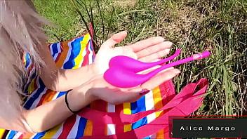 Public Fun With Lovense Toy! AliceMargo.com