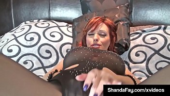 Hot Housewife Shanda Fay plays with her pussy & then assists a cock as it dives deep into her pussy, cumming all over her mature muff!