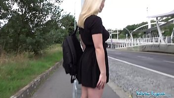 Public Agent 18 year old blondie European fucks big cock in POV