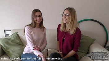 two super hot fashion models doing their first ever lesbian videos