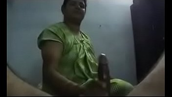 Mom giving hot handjob to her son