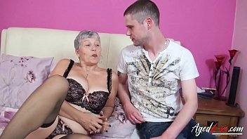 Old and young mature hardcore action with busty Thumbnail