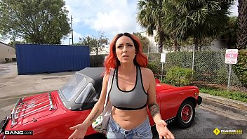 Roadside - Sexy Redhead Banged By The Roadside Assistance