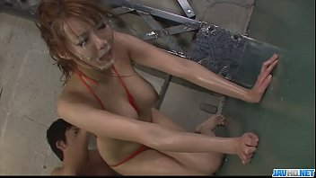Hot japan girl play with toy