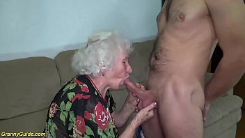 chubby 91 years old hairy grandma norma with big saggy tits gets rough banged by her young big cock toyboy