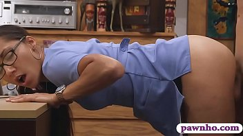 Desperate nurse exchange her panties for fucking and money at the pawnshop