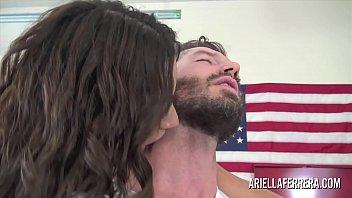 Watch big news on the boob tube hot milf ariella ferrera fucks on camera ⁃ Busty brunette pornstar fucks the mechanic in the garage preview