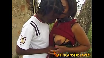Amateur Black Teen Whore Banged In Forest