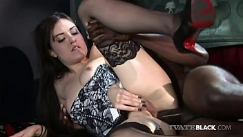 Hot Pornstar Sasha Grey stuffs her small perky pussy, saliva filled mouth & tiny little asshole with a big black cock that pounds her until she gets a mouthful of cum! Full Flick at PrivateBlack.com!