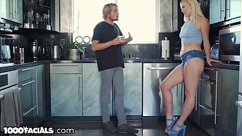 Lucky Stepbrother is Glad Sister Needs Help with her Dad Problems!