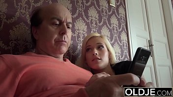Teen seducing grandpa and fucks his brains out like a naughty princess