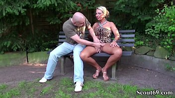German Natural Tit m. are horny and Fuck with Stranger Outdoor