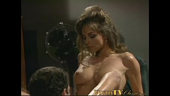 Tight retro pussy pounded in the office