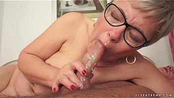 Granny Ursula Grande fucks a much y. cock