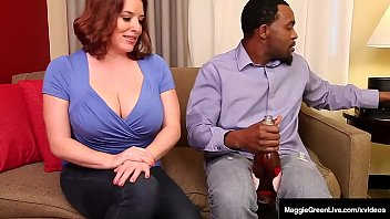 Huge Titties? Big Black Cock? You Bet! Curvy Maggie Green goes dark haired & gets her Big Black Dick from Black Knight Rome Major who cums on Maggie! Full Video & Maggie Live @ MaggieGreenLive.com