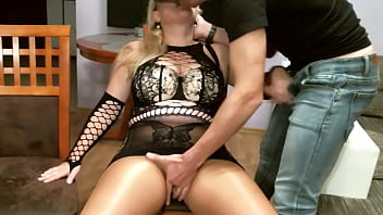 Horny Couple. Fucking in pantyhose