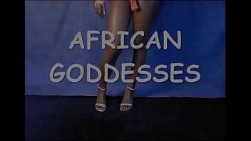 Ebony beauty dancing showing her perfect body