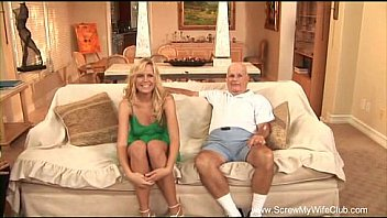 Watch Blonde Housewife First Time Swinging preview