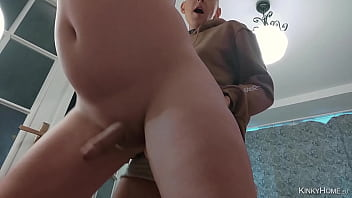 Girl fucks Guy - Amateur couple - Strap-on and prostate cum!