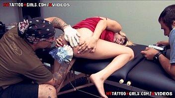 Prego Tattooed Model Gets Butt Hole Tattoo