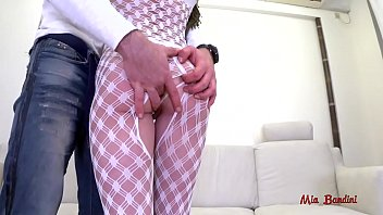 Rough ATM fuck for pussy creampie