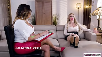 Lesbian milf pussy licking her big assed latina consultant