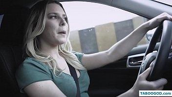 Pervert driver teacher fucks cute student