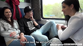 Watch TWO COUPLES, ONE FOURSOME SEX ON A PUBLIC TRAIN Alex Black preview