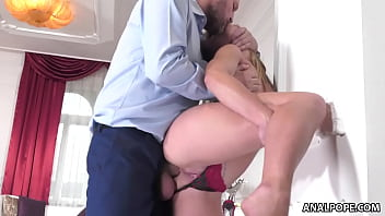 Latina cleaning lady assfucked by big cocked home owner