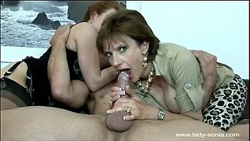 Lady Sonia has a threesome with Red XXX