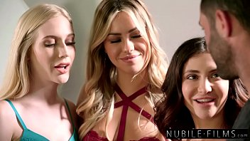 Emma Starletto, Alina Lopez, And Jane Wilde Give Photographer Surprise Birthday Foursome