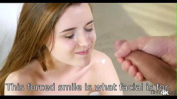 Watch This kind of forced smile is what facial cumshot is for! preview
