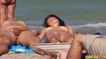 Nudist Ladies Filmed At  Beach With Hidden Camera while they are tanning naked 3