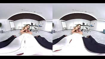 vr pornjack.com - Sexy Teen Girl strips on the table in VR