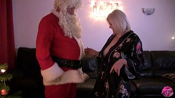 Naughty Granny Wants To Show How Bad She's Been This Year To Santa Claus