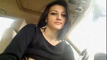 Hot girl films herself masturbating in her car