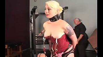 Naked doll amazing fetish bondage sex scenes with elderly stud