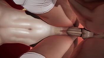 SF - Chun Li x R Mika - Futanari Animation