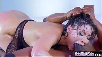 (Aleksa Nicole) Big Butt Oiled Girl Love Deep Anal Sex clip-04