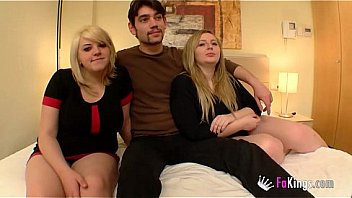 Fat Hungarian cousins have a threesome with a lucky guy