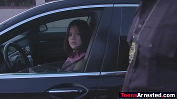 Hot teen fucked rough by sleazy black cop for traffic violation