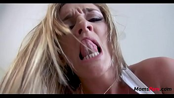 Blonde mom makes porn with son!