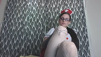 Sooth yourself with Feet Play from a Naughty Nurse in Stockings