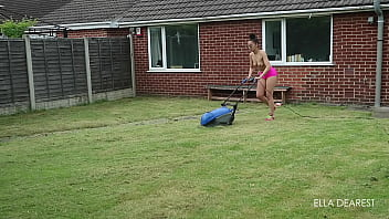Lawn mowing with no bra