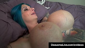 Round Titty Tattooed Harlynn Rae gets her juicy cunt rammed by huge boobed Cougar Deauxma who stuffs her fake cock into her tied up slave until they orgasm! Full Video & Deauxma Live @ DeauxmaLive.com