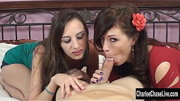 Horny MILF Charlee Chase is teaching a y. slut the proper way to suck a hard cock and milk all the cum! Exclusive from CharleeChaseLive.com
