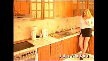 Big-Tit wife fucked in kitchen