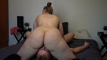 Big Ass Pawg BBW Face Sitting Husband and Using His Face to Grind Her Orgasm!