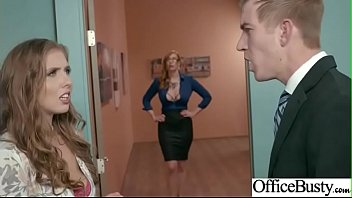 (Lauren Phillips & Lena Paul) Office Girl With Round Big Boobs Enjoy Hard Sex movie-17